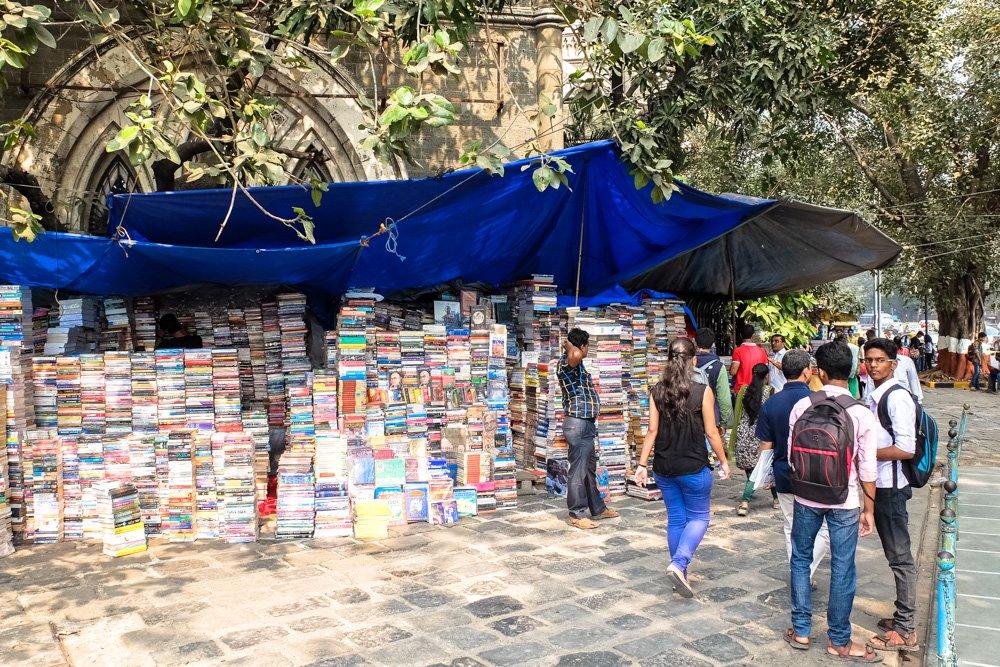 Ielas grāmatu tirgotava Mumbajā - Labākās budžeta viesnīcas Mumbajā