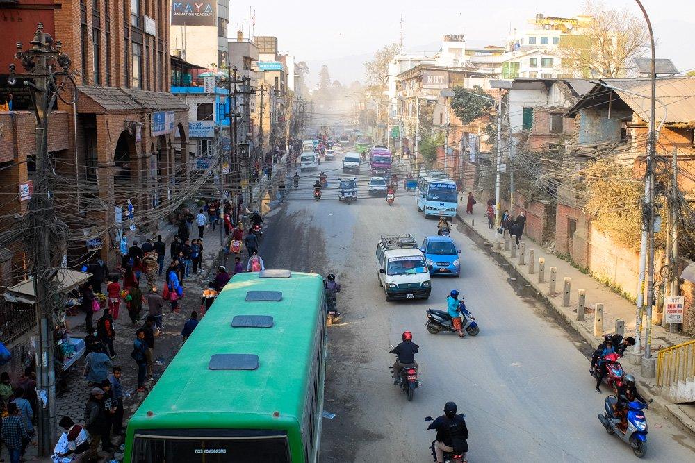 Katmandu satiksme - Labākās budžeta viesnīcas Katmandu