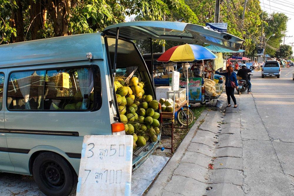 Kokosriekstu tirgotava - Labākās budžeta viesnīcas Puketā