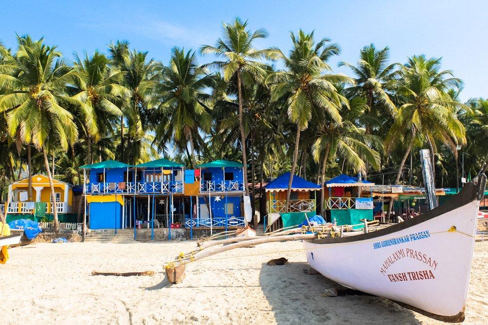 Palolem pludmalē, Goa - Labākās budžeta viesnīcas Goa