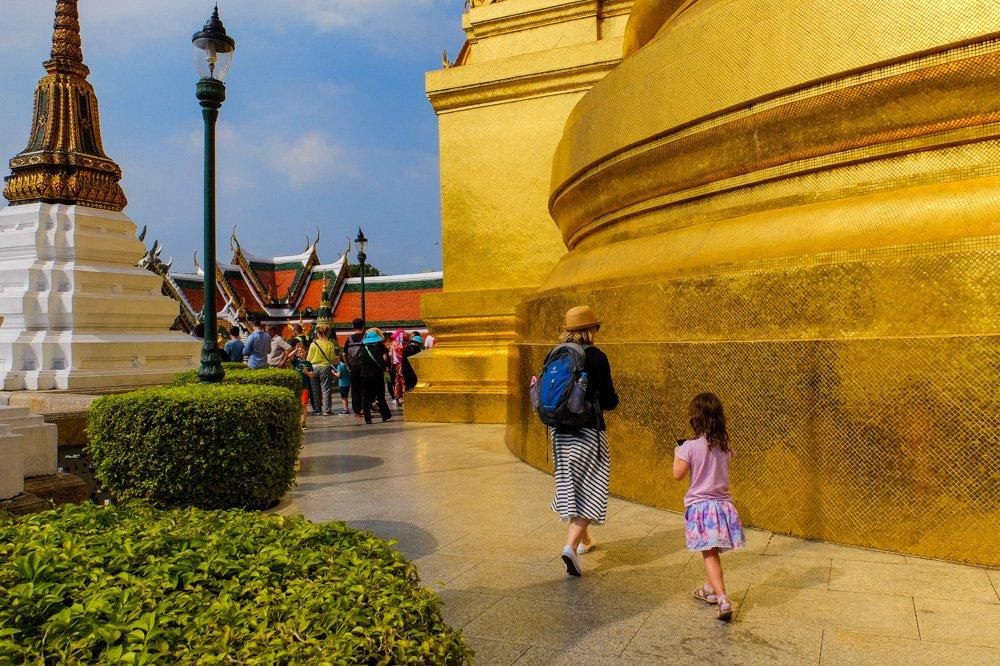 Pastaigājoties karaļa pils teritorijā - Bangkoka, Taizeme