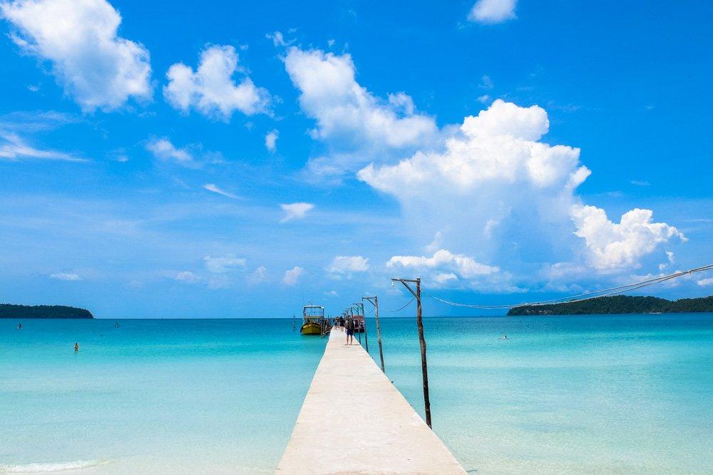 Piestātne Koh Rong Samloem salā - Labākās budžeta viesnīcas Koh Rong Samloem