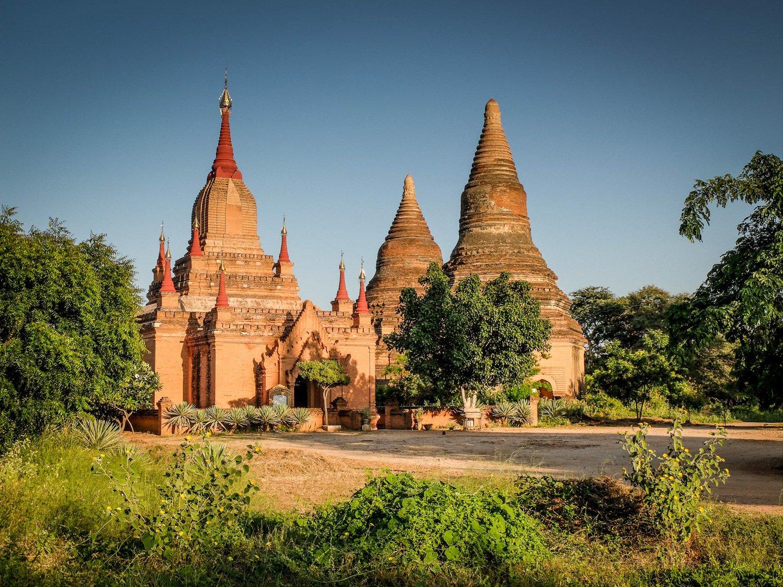 Tempļi Baganā - Labākās budžeta viesnīcas Baganā