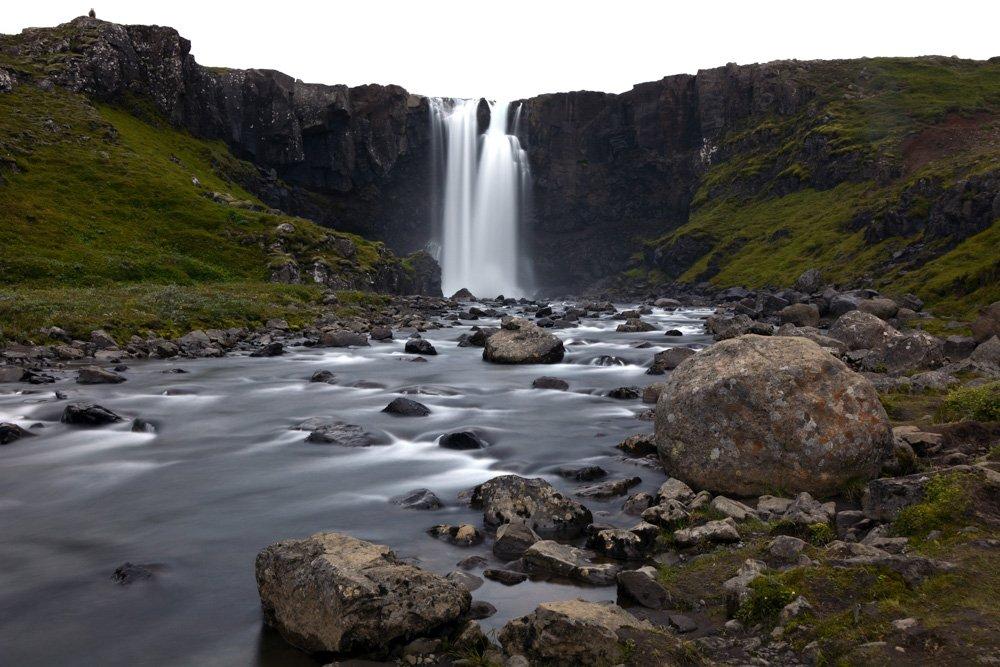 Gufufoss ūdenksritums - Labākās budžeta viesnīcas Islandē
