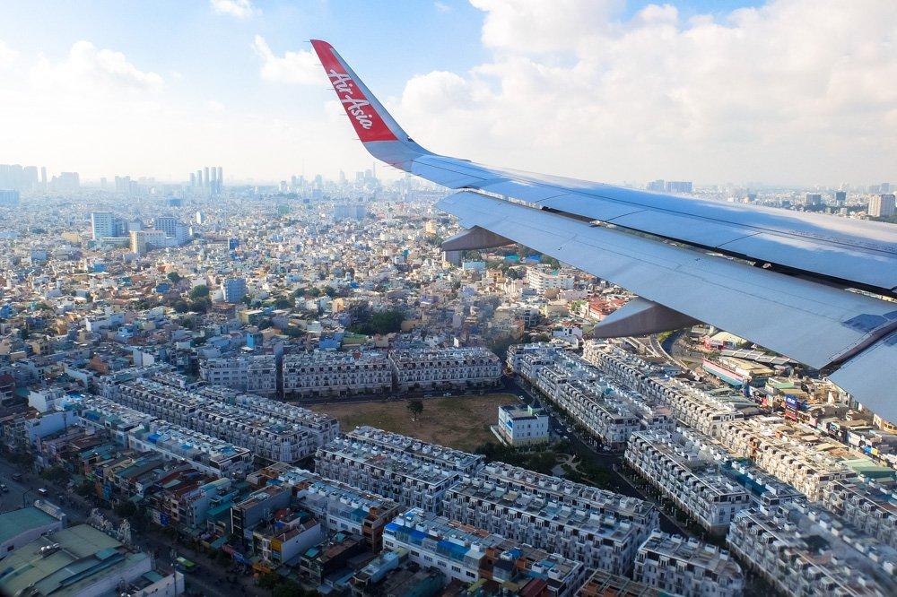 Hošimina no lidmašīnas loga - Vīza uz Vjetnamu