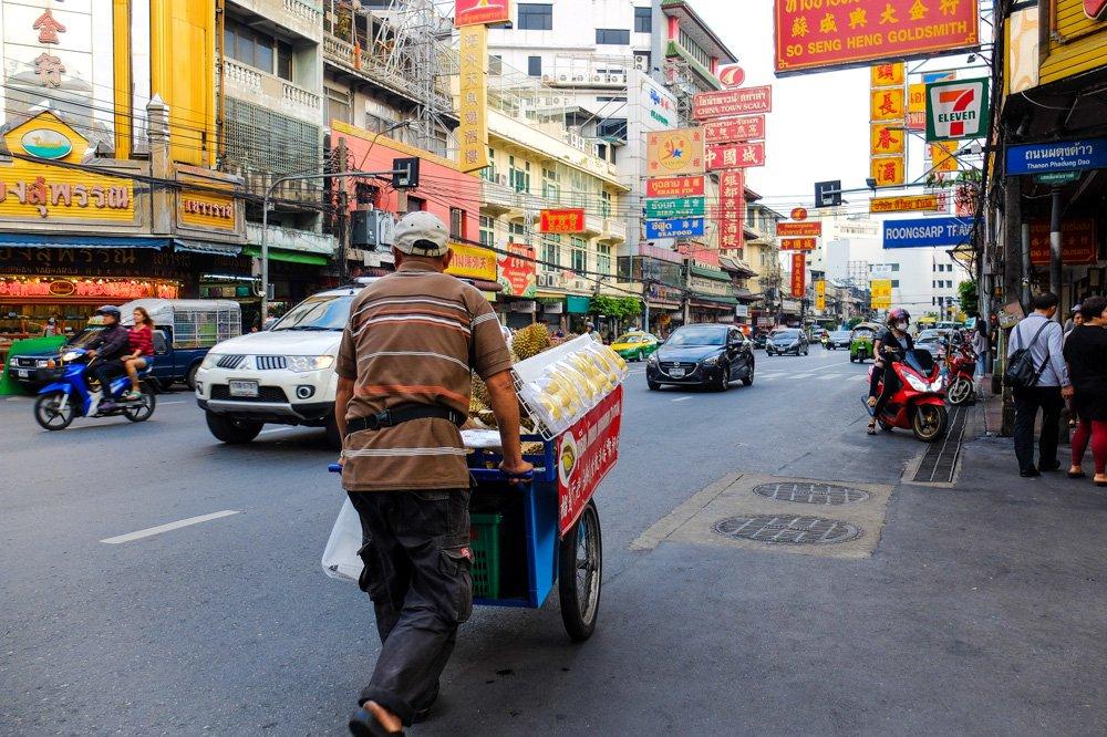 Ielu tirgotājs Čainataunā, Bangkokā - 2 nedēļas Taizemē - Ceļojums uz Taizemi ir sācies