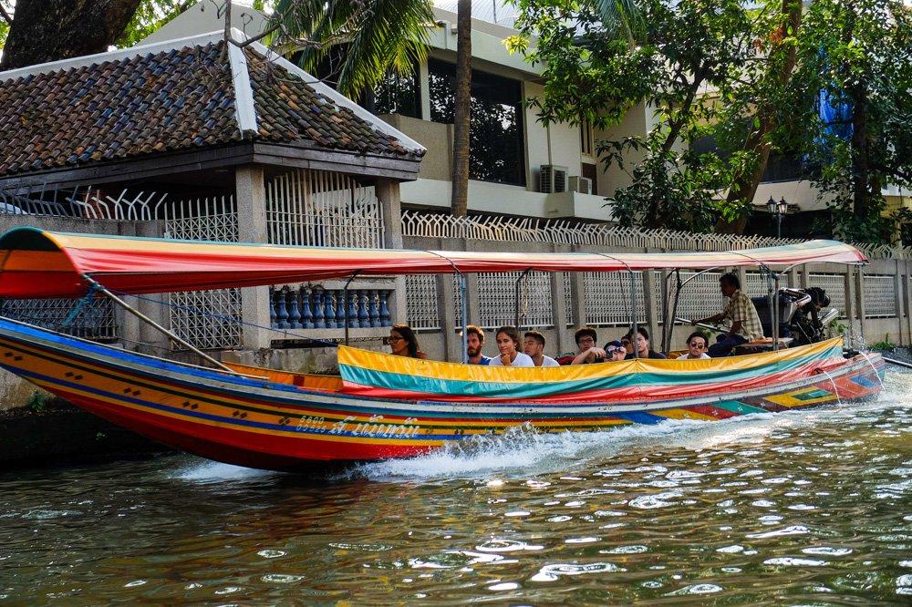 Kanāla laiva Bangkokā, Taizemē - 2 nedēļas Taizemē - Ceļojums uz Taizemi ir sācies