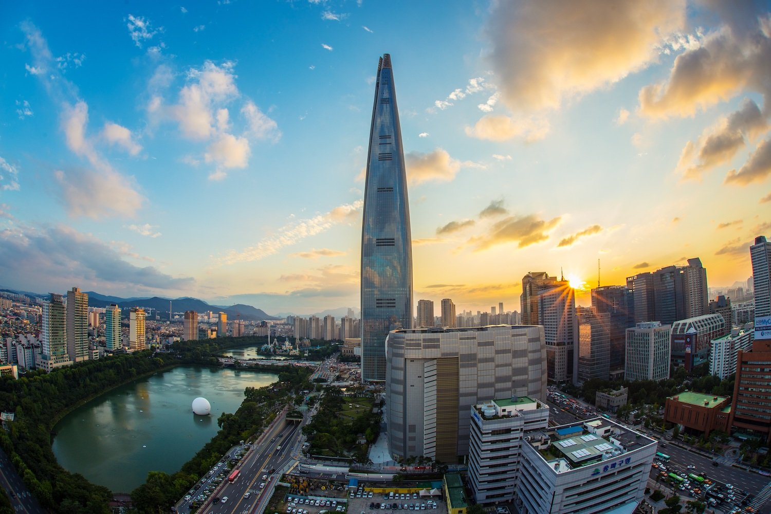 Lotte World Tower Seula - Korejas viza