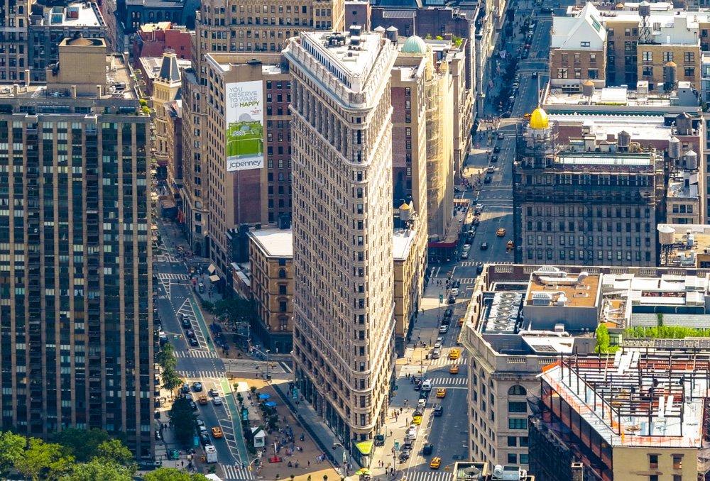 Skats uz Ņujorku no augstceltnes - Labākās budžeta viesnīcas Ņujorkā