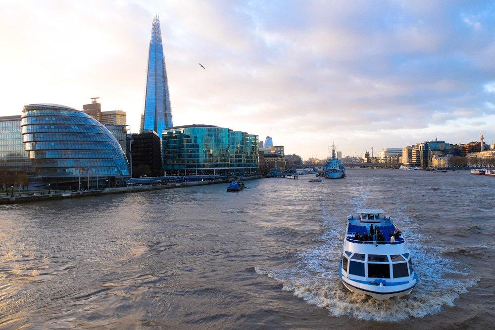 Temzas upe - Labākās budžeta viesnīcas Londonā