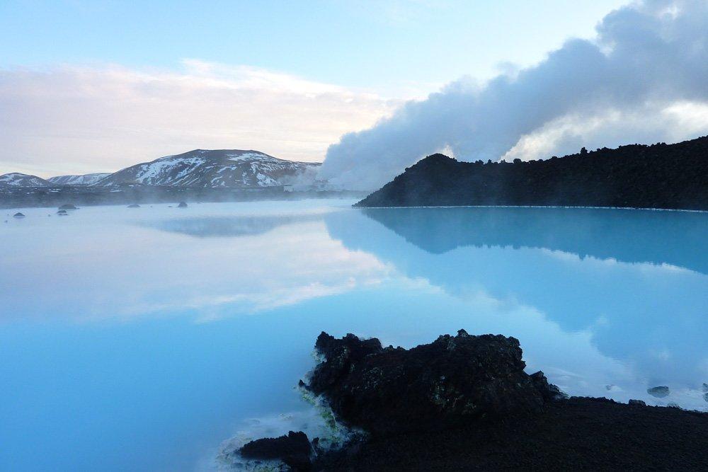 Zilā lagūna Islandē - Labākās budžeta viesnīcas Islandē