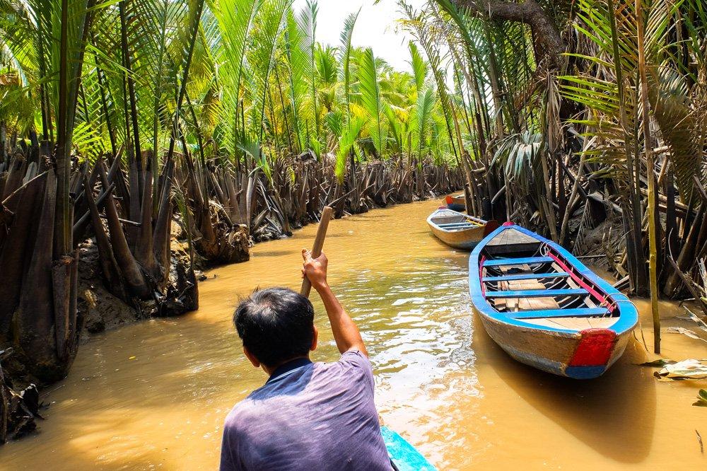 Laivas Mekongas deltā Vjetnamā - Kur doties ceļojumā
