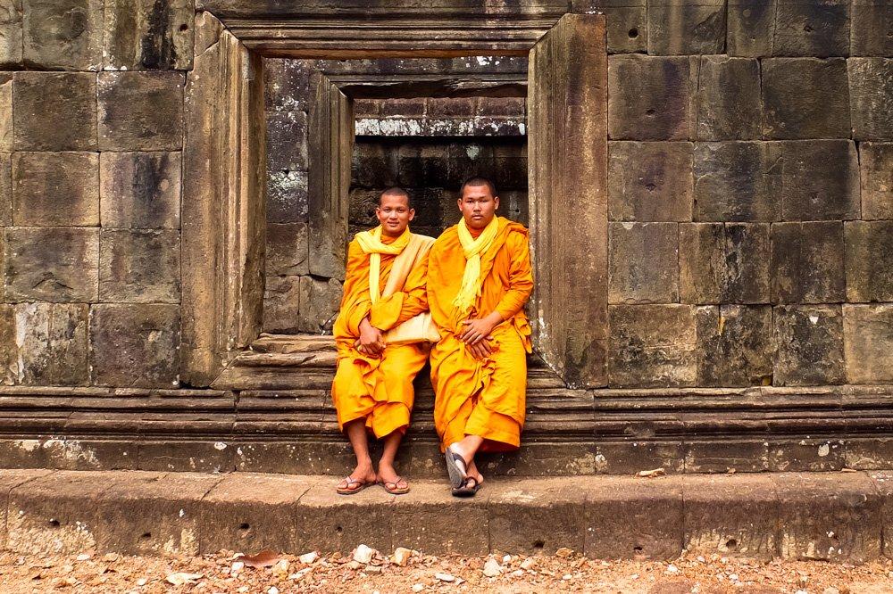 Mūki Angkorvata tempļu kompleksā - 2 nedēļas Kambodžā