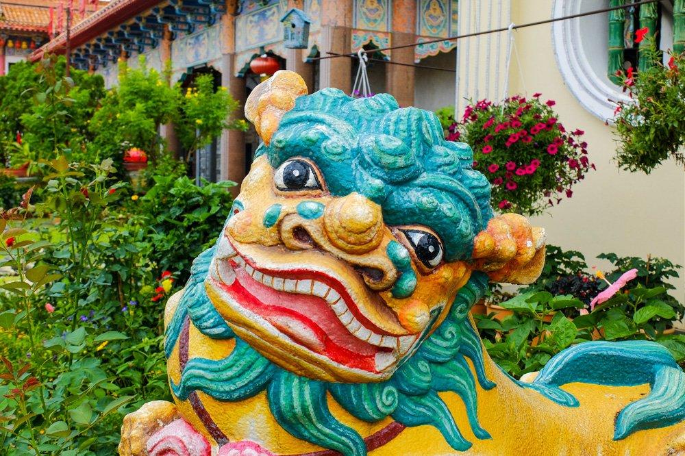 Statuja Penangā, Malaizijā - 2 nedēļas Malaizijā