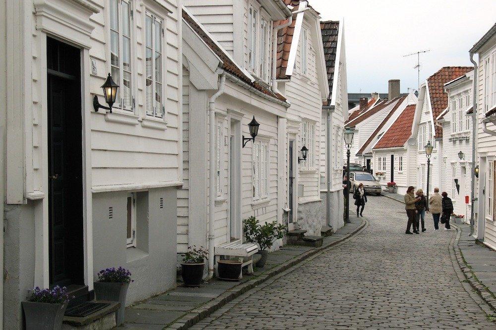 Baltās mājiņas Stavangerā, Norvēģija