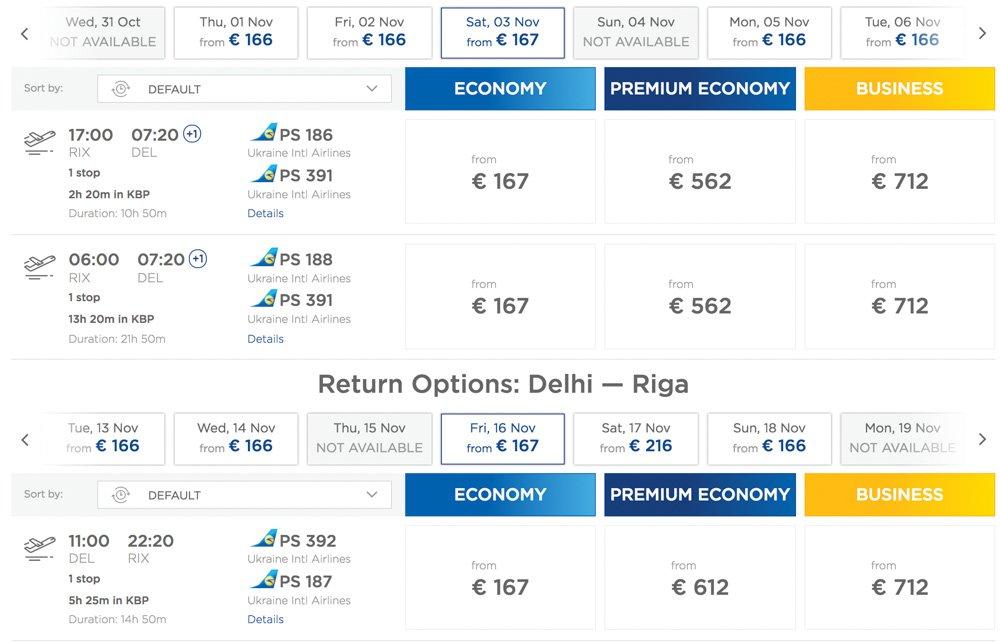 Rīga - Deli - Rīga - Lēti lidojumi no Rīgas uz Deli