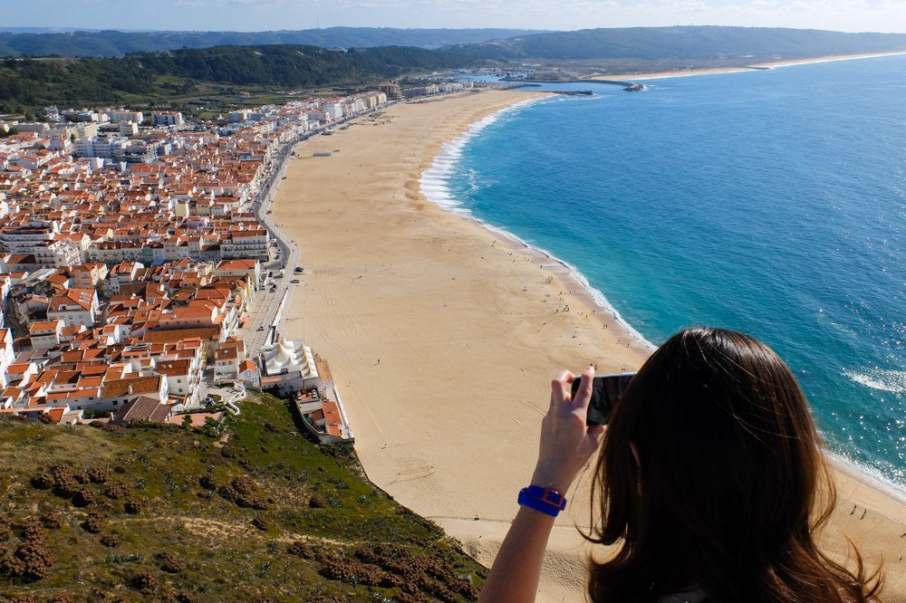 Pludmale Nazare, Portugāle