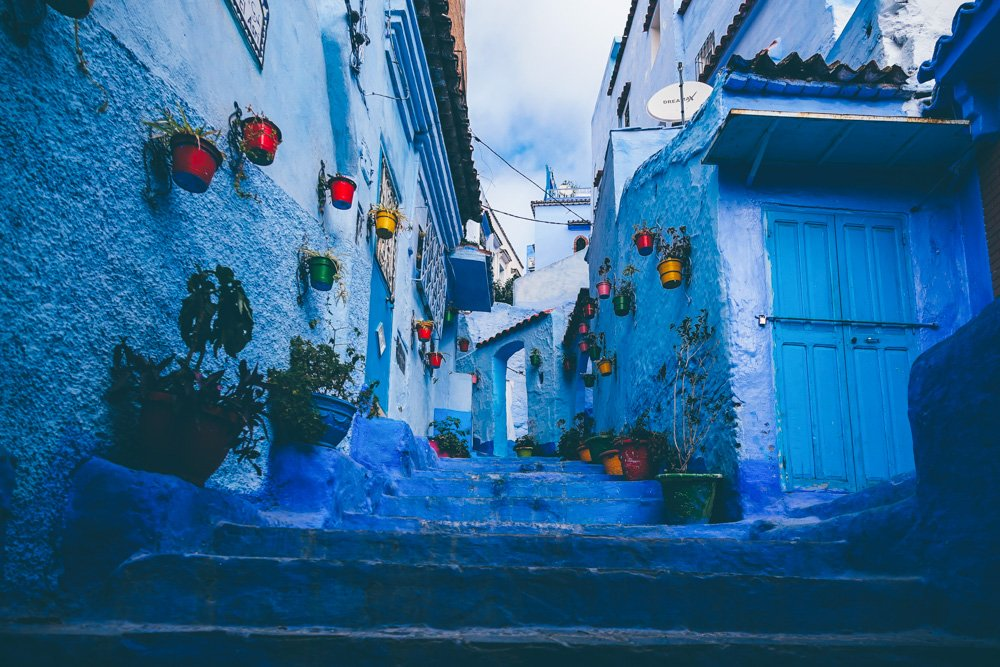 Neliela iela Šefšauenā, Marokā