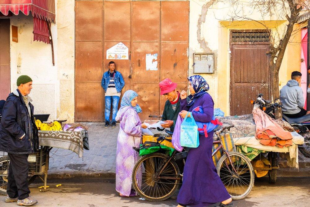 Cilvēki Fez, Marokā