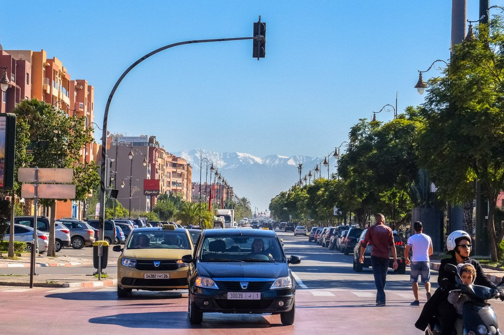 Iela Marakešā, Marokā
