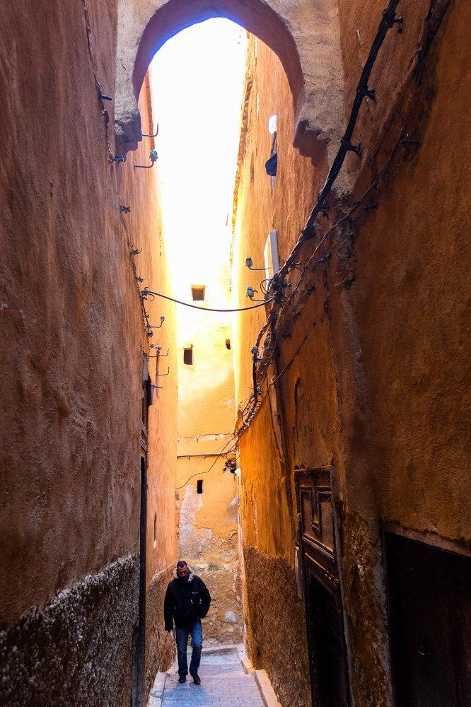 Šaura iela Fez vecpilsētā