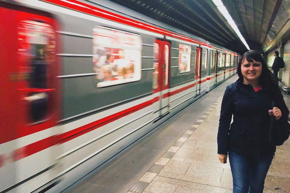 Una Prāgas metro